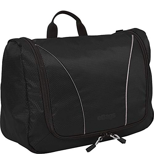 eBags Portage Large Toiletry Kit and Cosmetics Bag - (Black)