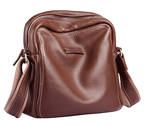 SAIERLONG New Mens Coffee Genuine Leather Briefcase Messenger Bags Business Handbags