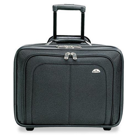 Samsonite 110211041 Mobile Office Notebook Case, Nylon, 17-1/2 x 9 x 14, Black