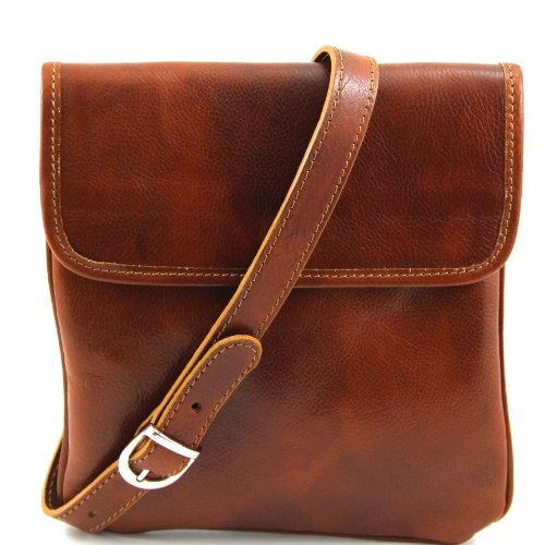 Tuscany Leather Joe Leather Crossbody Bag Honey Leather bags for men