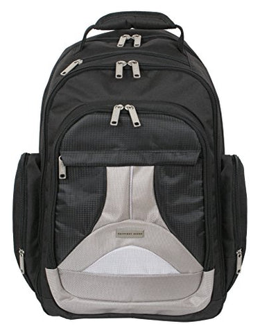 Geoffrey Beene Tech Backpack, Black/Gray Trim
