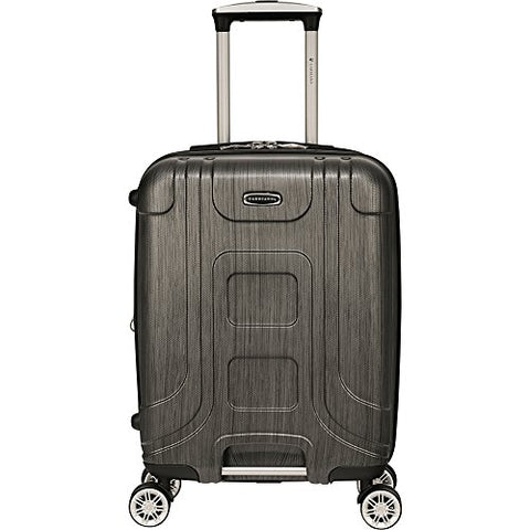 "Gabbiano Provence 20"" Expandable Carry-On Hardside Spinner Luggage (Black)"
