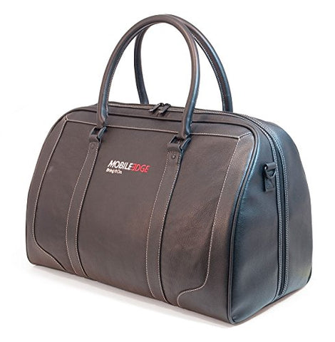 Mobile Edge - Deluxe Leather Duffel - Black (Me-Lgb1)