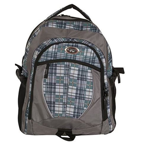 CALPAK North Shore Olive Plaid 18-inch Deluxe Backpack With Laptop Compartment