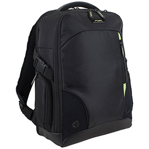 Fuel Tech ScanSmart Backpack TSA Friendly Flatbed Laptop Compartment, Black