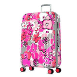 Olympia Blossom II 25-Inch Polycarbonate Mid-Size Spinner with TSA Lock PK, Fuchsia, One Size