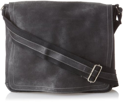 David King & Co. North South Laptop Messenger, Black, One Size