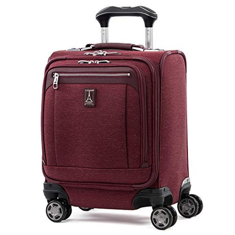 "Travelpro Luggage Platinum Elite 16"" Carry-On Spinner Tote With Usb Port, Bordeaux"