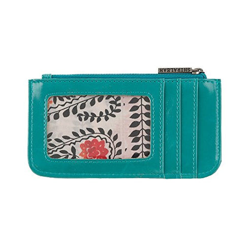 Shiraleah Harper Card Case, Aqua
