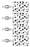 Tag Crazy Dalmation Premium Luggage Tags Set Of Four, Black, One Size