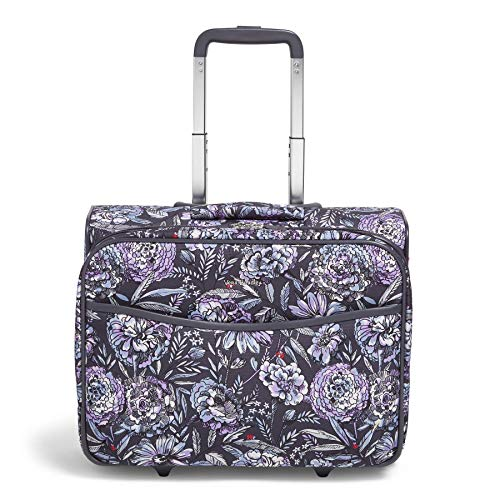 Vera Bradley Iconic Small Spinner, Lavender Bouquet, Bouque