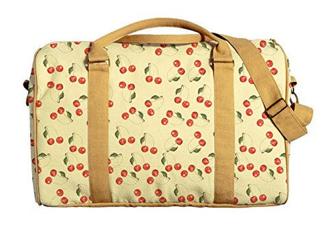 Cherry Seamless Pattern Print Oversized Canvas Duffle Luggage Travel Bag Was_42