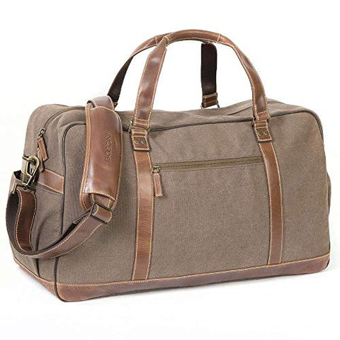 Boconi Bryant Getaway Duffle (Antique Mahogany with Houndstooth)