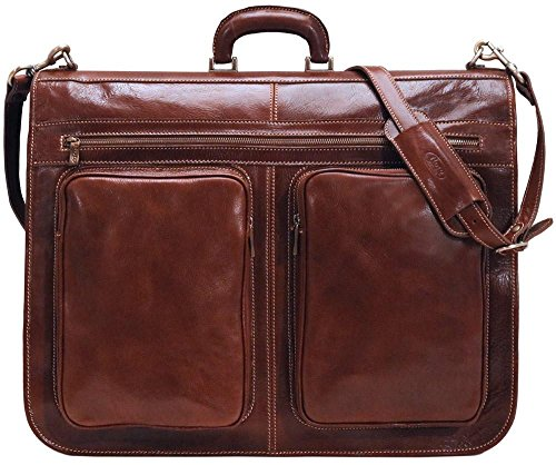 Floto Luggage Venezia Garment Bag Suitcase, Vecchio Brown, Large
