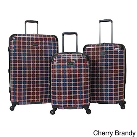 Ben Sherman Glasgow 3-Piece Lightweight Luggage Set Red