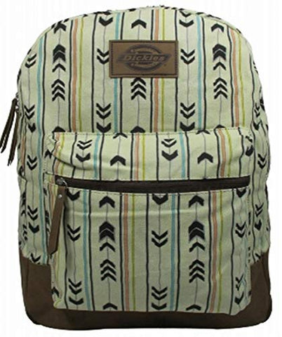 Dickies Cotton Canvas Hudson Backpack, Arrows Stripes Student School Travel Pack