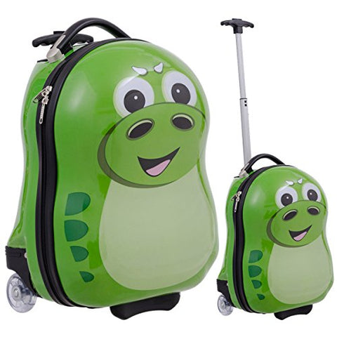 GHP Set of 2 Polycarbonate ABS Material & Nylon Travelling Hippo-Shaped Luggage Set