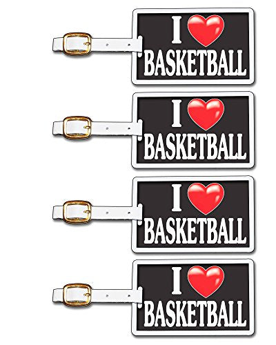 Tag Crazy I Heart Basketball Four Pack, Black/White/Red, One Size
