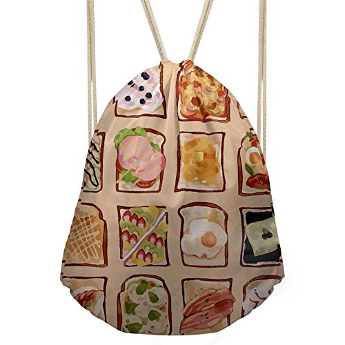 Doginthehole Drawstring Bags Promotional Sack Packs For Women Washable Portable