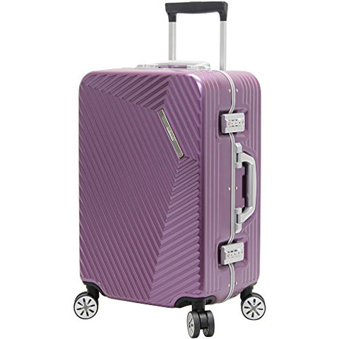 "Andiamo Elegante Aluminum Frame 20"" Carry On Zipperless Luggage With Spinner Wheels (20in, Quartz)"