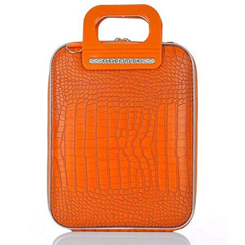 Bombata FG1111-13 Cocco Briefcase for 12 in. Laptop Siena by Fabio Guidoni - Orange