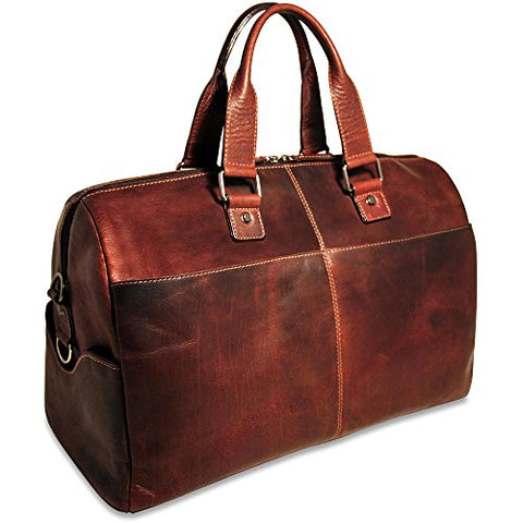 Jack Georges Mens Voyager Duffle Bag in Brown