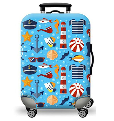 Tdc Elastic Luggage Cover Luggage Suitcase Cover Super Light-Weight Luggage Protector, Blue