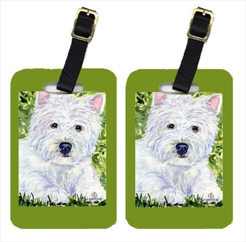 Carolines Treasures Ss8835Bt Westie Luggage Tag - Pair 2, 4 X 2.75 In.