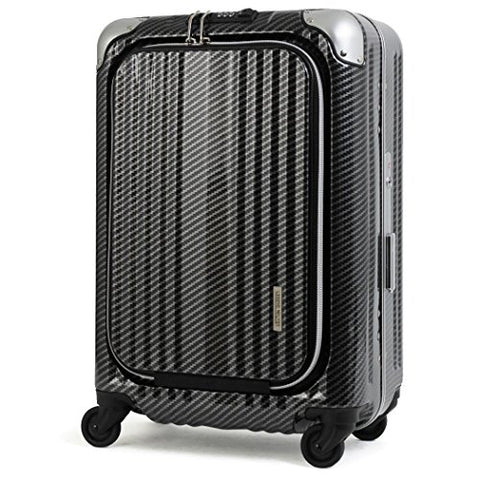 "Enkloze X1 Carbon Black Carry-On 21"" Spinner 100% Poly TSA Approved Zipperless"