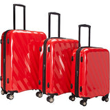 The Set of Classic Red A747 Exp 3pc Luggage Set