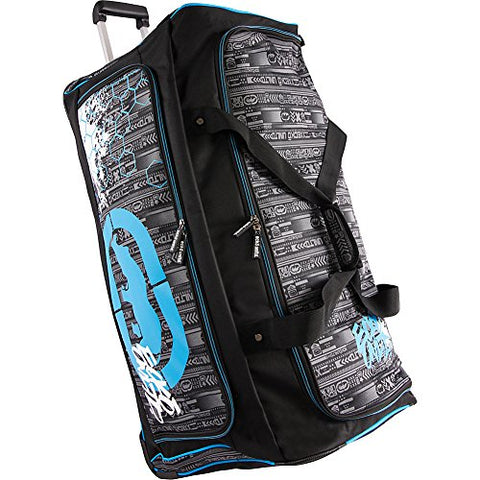 "Ecko Unltd. Men's Tagger 32"" Rolling Duffel Bag, Black/Blue, One Size"