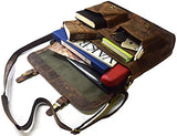 "Kk'S 18"" Inch Retro Buffalo Hunter Leather Laptop Messenger Bag Office Briefcase College Bag"
