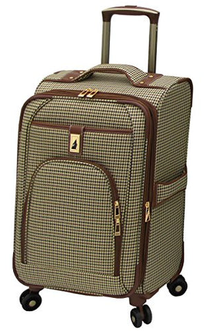 London Fog Cambridge 21 Inch Expandable Spinner Carry-on, Olive