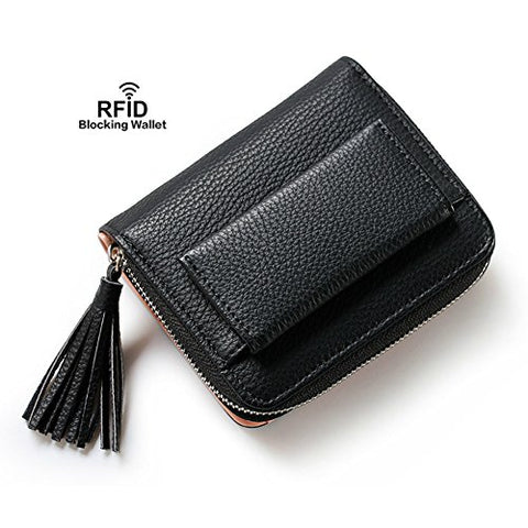 BOBILIKE Women Small Wallet Mini Purse Bifold Leather Short Wallet RFID Blocking with ID Window,
