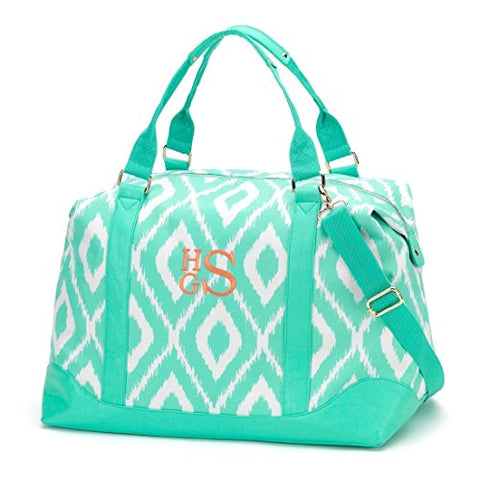 Wholesale Boutique Mini Ikat Weekender Bag - Mint