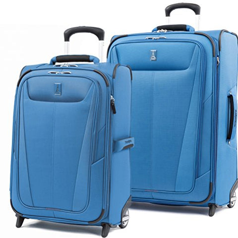 Travelpro Maxlite 5 Set of 22 |26 Expandable Rollaboard Azure Blue