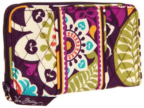 Vera Bradley Accordion Wallet In Plum Crazy