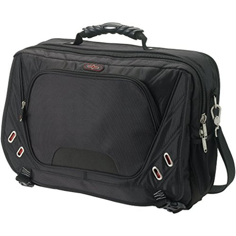 Elleven Proton Checkpoint Friendly 17in Computer Messenger Bag (17 x 6 x 12.5 inches) (Solid Black)