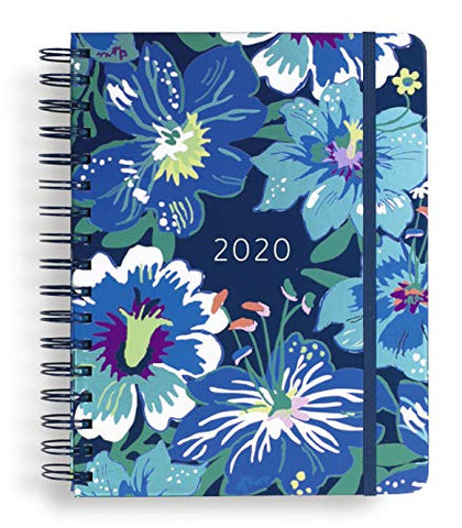 "Vera Bradley Large 17 Month Daily Planner, August 2019 - December 2020, 8.75"" x 7.25"" with Stickers and Daily, Weekly, Monthly Views, Moonlight Garden"