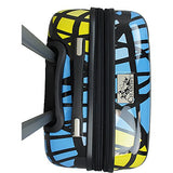 "Chariot 20"" Lightweight Spinner Carry-on Hardside Suitcase Luggage-Stained Glass Cat, Black"