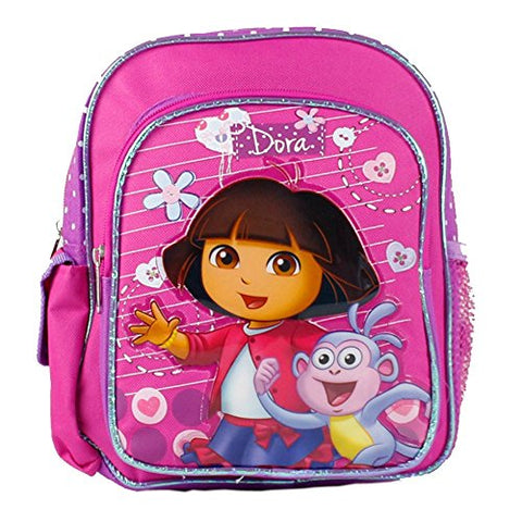 "Nickelodeon Mini Backpack - Dora The Explorer - Boots on Stroll 10"" New 639815"