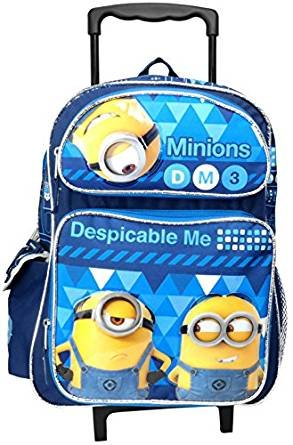 "Despicable Me 3 Minions 16"" Large Rolling Backpack"