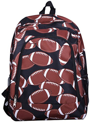 Fashion Print Medium Sized Backpack - Custom Personalization Available (Football Print)