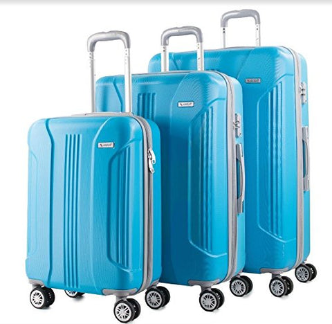 AMKA Sierra 3-Piece Expandable Hardside Spinner Luggage Set Turquoise