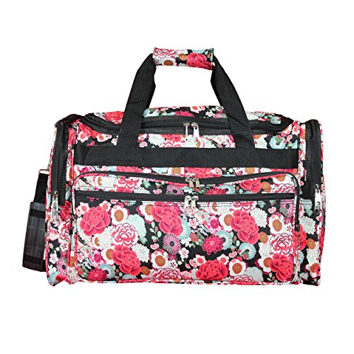 "World Traveler 22"" Duffle Duffel Bag, Flowers, One Size"