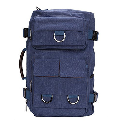 Bison Denim Multipurpose 4 In 1 Canvas Laptop Backpack Handbag Vintage Messenger Bag Luggage Bag