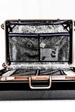 "Enkloze X1 Weight Watcher Suitcase Zipperless Self Weighing Carbon Black/Rose Gold TSA Approved 100% PC Carbon (25"")"