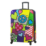 Mia Toro Peace And Love Luggage 3 Piece Set, Contemporary