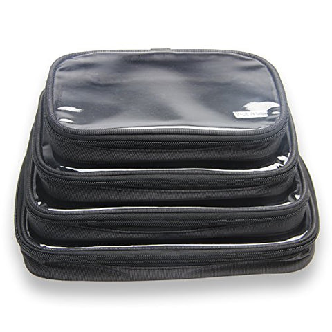 Damero 4Pcs Clear Toiletry Bag Packing Cubes, Travel Carry Organizer Case For Electronic