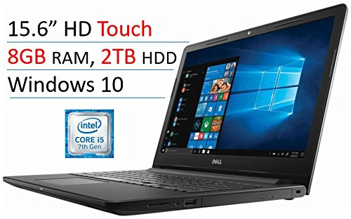 Dell Inspiron I3567-5664Blk-Pus 15.6″ Touch-Screen Laptop (Intel Core I5-7200U, 8Gb Ram, 2Tb Hdd,